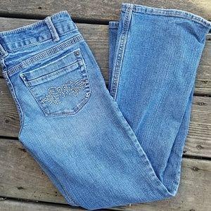 Aeropostale Kailey skinny flare jeans sparkles